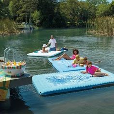 Transform your dock into a personal waterpark with the 15' Inflatable Dock Slide. This thrilling inflatable slide simply hooks over the railing of your two-story boat dock or yacht for hours of entertainment and laughter. Made with commercial-grade, reinforced PVC Tarpaulin material, the slide provides long-lasting adrenaline rushes for all ages. Fits most two-story docks and yachts Compatible with railing heights of 13'8 to 18' from the surface of t...