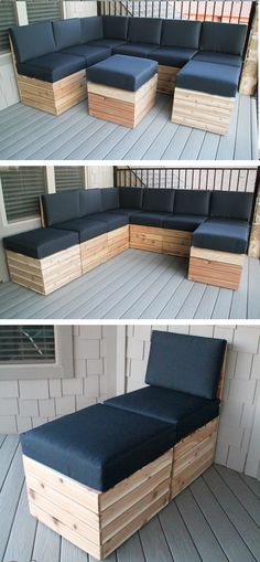 For $250 She Built This Modular Sectional Herself, And Now You Can Too (PLANS INCLUDED)