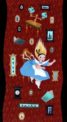 One of the best pieces (In my opinion) from the Concept Art by Mary Blair for Alice in Wonderland