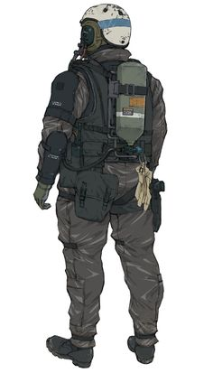 Metal Gear Solid V - XOF Soldier, Backside  ★ || CHARACTER DESIGN REFERENCES (https://www.facebook.com/CharacterDesignReferences & https://www.pinterest.com/characterdesigh) • Love Character Design? Join the #CDChallenge (link→ https://www.facebook.com/groups/CharacterDesignChallenge) Share your unique vision of a theme, promote your art in a community of over 25.000 artists! || ★