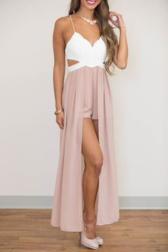 Love Lingers In My Heart Maxi Romper - The Pink Lily