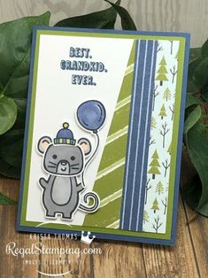 How to Make a Menagerie Mouse Birthday Card | Regal Stamping