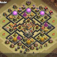 OMG These anti dragon base designs are really cool because of which dragons stopped flying after seeing this town hall 8 base layouts and killed themselves. Clash Of Clans Levels, Clash Of Clans Game, Clas Of Clan, Dragon Base, Mercedes Wallpaper, Black Wallpaper Iphone, Clash Royale, Anime Demon, Geek Stuff