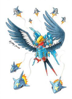 To create a familial theme between the Ana and Pharah mashups, I decided to make them both regional birds hence the choice of Swellow for Pharah. Pokemon X Overwatch: Swellow X Pharah Pokemon Funny, Pokemon Go, Pikachu, Pokemon Pins, Overwatch Pokemon, Overwatch Fan Art, Hunter Pokemon, Pokemon Human Form, Pokemon Fusion Art