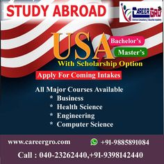 Careergro Overseas Consultant is one of the best study abroad consultants in Hyderabad. We provide best services for study, work and want to migrate abroad. Bachelor Master, Overseas Education, Usa Usa, Study Abroad, Higher Education, Computer Science, Studying, Engineering, Students