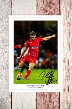 DAN BIGGAR WALES RUGBY SIX NATIONS 2016 AUTOGRAPHED SIGNED PHOTO | eBay
