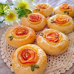 Apple custard bread