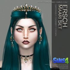 ERSCH - MAARI SET FOR TS4 Аccessory: hat, necklace, earrings (Icons in CAS) Gender: Female Male Age: Teen/Young Adult/Adult/Elder Category: Every