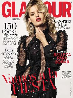 6cdb66c7e8b9 Georgia May Jagger featured on the Glamour Spain cover from December 2016  Fashion Mag