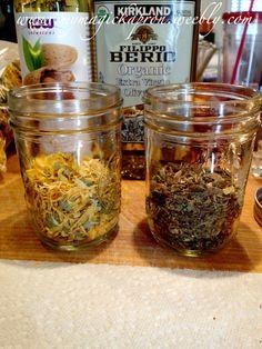 Herb infused oils & honey