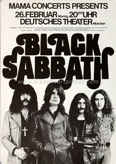 Black Sabbath 1973 tour posters - Fonts In Use
