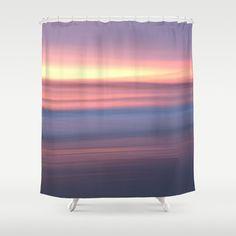 Photo shower curtain sunrise lilac pastel purple by NewCreatioNZ, $109.00