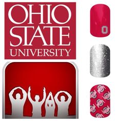jamberry+nails+ohio+state   Jamberry Naills: THE Ohio State nail art Show me your Spirit Fingers ...