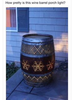 It would be awesome to put your house number on the barrel along with your last name and have it on your front porch. <3