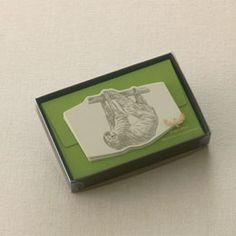 winged wheel sloth mini card set