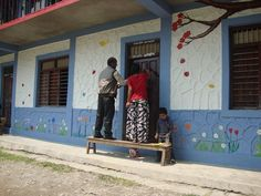 Part of the work we do with schools is to paint them so they are more educational friendly. The kids love it.  http://ehn-nepal.org/