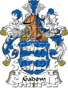 Gadow Family Crest apparel, Gadow Coat of Arms gifts