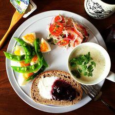 #朝ごはん Instagram photos   Webstagram Clean Recipes, Cooking Recipes, Healthy Recipes, Bento Recipes, Western Food, Food Goals, Brunch, Morning Food, Everyday Food