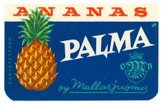 Mallasjuoma, Palma, mainos, retro ad Retro Ads, Vintage Ads, Good Old Times, Old Ads, Finland, Pineapple, Nostalgia, Childhood, Fruit
