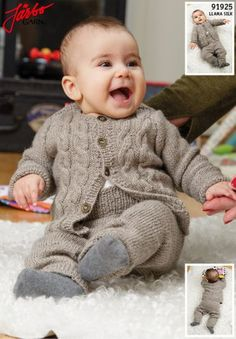 91925 Baby Cabled Cardigan pattern by Sanna Mård Castman Baby Cardigan Knitting Pattern, Baby Boy Knitting, Baby Knitting Patterns, Cable Knit Cardigan, Cable Knit Sweaters, Baby Pullover, Baby Shirts, Baby Sweaters, Crochet Baby