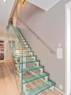 Stair Factory are the UK's leading designers & manufacturers of bespoke glass staircases. Our glass stairs come in a variety of configurations to suit you! Glass Stairs, Contemporary Stairs, Staircase Design, Scale, Home Decor, Stairs, Weighing Scale, Decoration Home, Room Decor