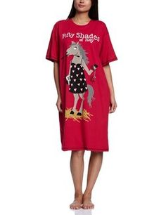 "Hatley One Size Sleepshirt - ""Fifty Shades of Hay "" (Horse) - Relaxbuddy Online Shopping Night Shirts For Women, Classic Mickey Mouse, Horse Gifts, Western Wear For Women, Unique Gifts For Women, Pajama Shirt, Sleep Shirt, Western Outfits, Fifty Shades"
