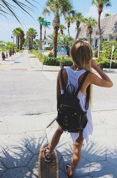 Skate :: Ride Barefoot :: Free Spirit :: Gypsy Soul :: Eco Warrior :: Skater Girl :: Seek Adventure :: Summer Vibes :: Skateboard Design + Style :: Free your Wild :: See more Untamed Skateboarding Inspiration Summer Vibes, Summer Sun, Summer Of Love, Foto Sport, Good Vibe, Skate Girl, Summer Goals, The Bikini, Bikini Babes