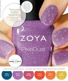 Zoya Pixie Dust Collection for Summer 2013 - Temptalia Beauty Blog: Makeup Reviews, Beauty Tips