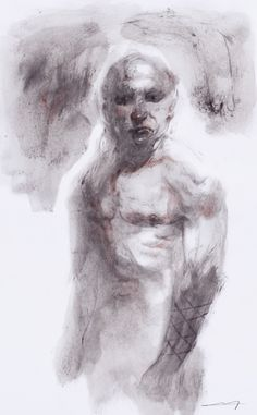 """Samson"" - Michele Petrelli art, drawing, acrylic, graphite, sketch, sketch art, contemporary, hero, mythology"