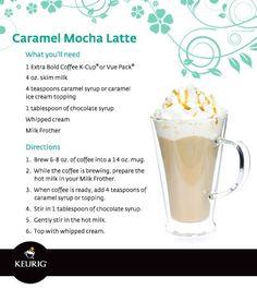 Caramel Mocha Latte from the Keurig Ninja Coffee Bar Recipes, Ninja Coffee Maker, Coffee Drink Recipes, Coffee Drinks, Coffee Coffee, Coffee Beans, Coffee Truck, Cappuccino Recipe, Latte Recipe