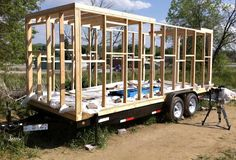 tiny house trailer | Merete and Christopher's Tiny House: A Tour + Process - Improvised ...