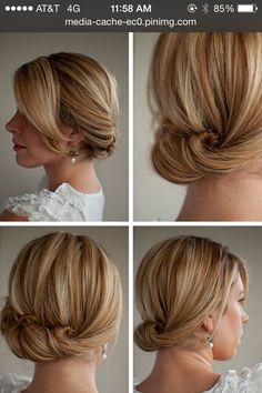 Up do for fine hair
