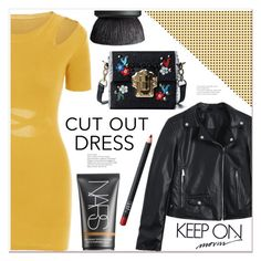 """""""cut-out dress"""" by mycherryblossom ❤ liked on Polyvore featuring NARS Cosmetics"""