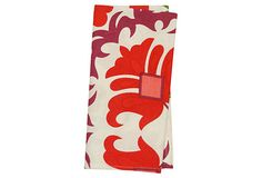 S/4 Suzani Napkins, Red/Plum on OneKingsLane.com