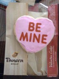 @Panera Bread Valentine's Cookies.