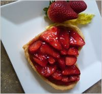 Sweetheart strawberry tart