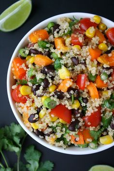 I'm always down to party with fresh, fiesta flavors, and this healthy quinoa salad is no exception. This was actually one of the early r...