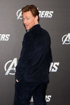 """Tagged as """"Actor Tom Hiddleston strikes a pose. Hundreds injured. Footage at eleven."""""""
