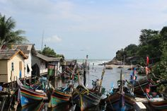 Fishing village near Songkhla, Thailand