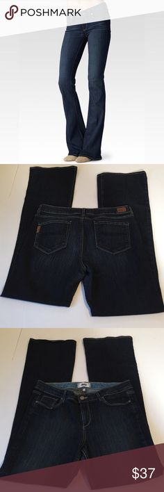 Paige Jeans Skyline Boot Jeans, Plus size 32 Paige Jeans Skyline Boot Jeans in Plus Size 32. Flat lay measure of the waist is 17. Rise is 9.25, inseam is 34.5, and leg opening is 10.25. Made from 80% cotton, 19% polyester, and 1% elastan. In overall excellent condition, please ask if you have any questions. Jeans Boot Cut