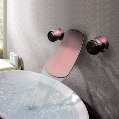 Two Handles Antique Orb Black Oil Rubbed Bronze Finish Bathroom Sink Faucets At Faucetsdeal