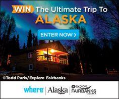 ALASKA.   enter to win a dream trip to Alaska to see the northern lights. Enter daily through Nov 30, 2014 at www.wheretraveler.com/contest