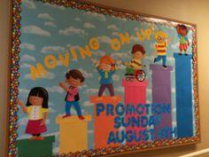 Promotion Sunday, Sunday school bulletin board