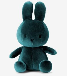 Introducing the adorable Miffy velvet bunny for babies or toddlers. Based on the Dick Bruna Miffy stories, they will love this timeless bunny. This Miffy soft toy makes the perfect gift for children and is a favourite in our collection at Just Add Milk. Teal Nursery, Musik Player, Emo, Teal Wallpaper, Big Plush, Shades Of Teal, Miffy, Dark Teal, Rabbits