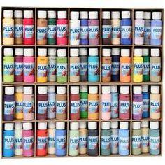 Plus Color #acrylverf, 60x60 ml, kleuren assorti