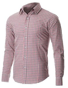 FLATSEVEN Men's Two Color Plaid Check Button Down Casual Shirt (SH617) Red, M FLATSEVEN http://www.amazon.com/dp/B00P51Y5Z0/ref=cm_sw_r_pi_dp_baWvub14WBNRJ