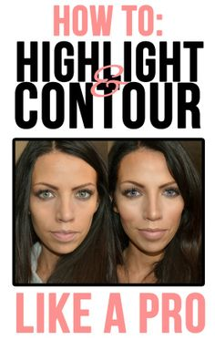 How to highlight and contour like a PRO! Awesome website.