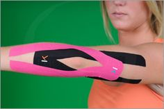 Taping for Elbow Pain Hand Therapy, Massage Therapy, Physical Therapy, Spa Massage, Kt Tape Elbow, Tennis Elbow Relief, Roller Derby, K Tape, Tendinitis