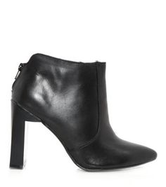 49a32604619 Limited Black Pointed Prism Block Heel Boots Block Heel Boots