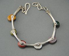 Pinned Pebbles Bracelet by MaggieJs 185.00